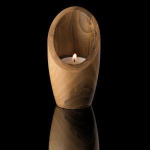 Walnut wood candle holder