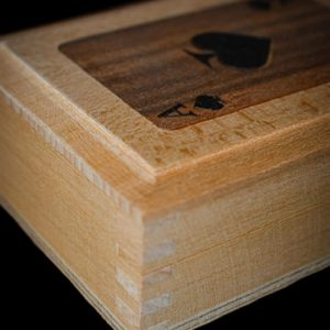 Handmade box for holding playing cards